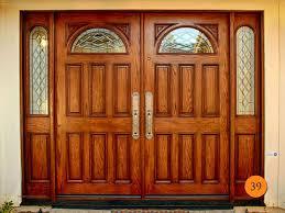 wooden door with glass design chair ideas and door design