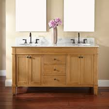 Stand Alone Vanity with Double Sink Oak Vanity Signature Hardware