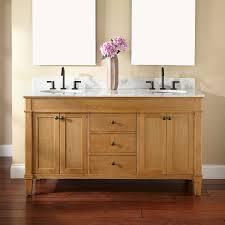 Double Sink Oak Vanity Signature Hardware