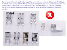 compatible concealed invisible zipper sewing machine presser foot