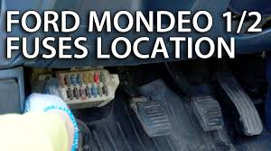 where are cabin fuses in ford mondeo u0026 contour mk1 mk2 youtube