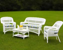 White Outdoor Wicker Furniture  Sets To Choose From - Outdoor white wicker furniture