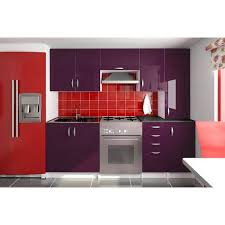 meuble cuisine aubergine meuble haut cuisine couleur aubergine