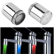 bathroom faucet with led light 1pcs led light water faucet tap heads temperature sensor rgb glow