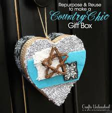 diy gift box doubles as a country chic ornament