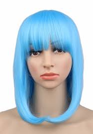 halloween city wigs popular short light blue wig buy cheap short light blue wig lots