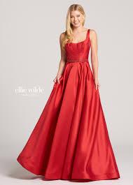 mikado a line prom dress with box pleated skirt ew118172