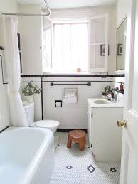 Houzz Black And White Bathroom Black White Tile Flooring Houzz