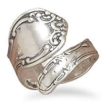 rings sterling silver images Oxidized 925 sterling silver spoon ring sterling jpg