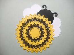 Paper Bumble Bee Bumble Bee Die Cut Bumble Bee Cut Out Bee