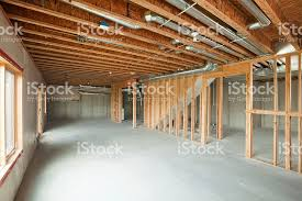 walk in basement unfinished house walkout basement stock photo 175204750 istock