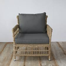 All Weather Wicker Chairs Trellis Weave All Weather Wicker Lounge Chair Terrain