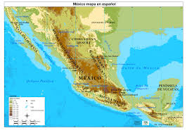 central america physical map central america map in zoom