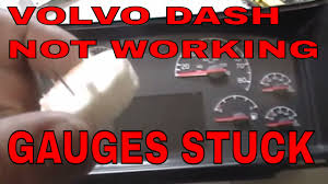 how to rebuild or repair volvo semi truck tractor speedometer