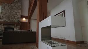 paramount 3 sided ethanol fireplace by eco feu youtube