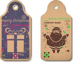 vintage christmas vector labels
