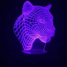 leopard 3d light multicolor led l optical vision panther