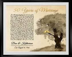 50th wedding anniversary gifts for parents 50th anniversary print 50th anniversary gifts for parents