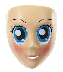 blank eyes doll mask by disguise halloween costumes