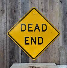 metal halloween decorations vintage dead end metal road sign warning danger industrial garage