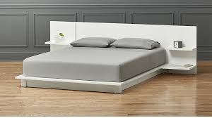 Floor Bed Frame Andes White Storage Bed In Beds Reviews Cb2