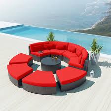Round Outdoor Sofa 9 Piece Round Outdoor Sectional Sofa Set Modavi By Uduka