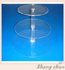 aliexpress com buy 3 tier transparent circle acrylic cupcake