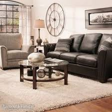 Living Room Brown Leather Sofa Hadley 89