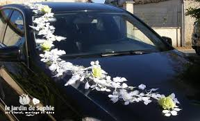 deco mariage voiture décoration de voiture de mariée avec ventouse bouquet wedding