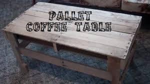 diy pallet coffee table diy pallet coffee table youtube