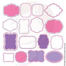 baby shower frames pink purple frames borders clip make your own baby shower or