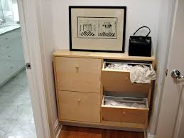 Slim Shoe Cabinet A Neat And Slim Laundry Hamper Ikea Hackers Ikea Hackers