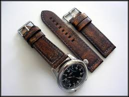 Aged Leather Sofa Distressed Aged Vintage Leather Mil Bomber Pilot Chrono Watchband