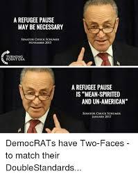 a refugee pause may be necessary senator chuck schumer november