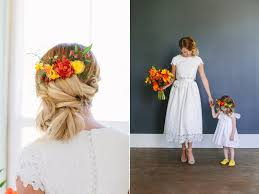 wedding flowers in hair moroccan bright citrus infused wedding flowers utah calie
