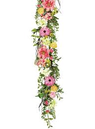 flower garland august grove flower and berry garland reviews wayfair