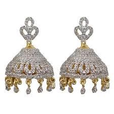 jhumki earring cubic zircon jhumki earrings by sheetal jewellery earrings