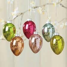 easter ornaments mercury glass eggs easter ornaments set of 12 2 1 2