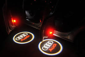 discount no damage wireless car door light ghost light welcome