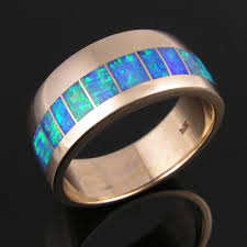 wedding rings opal images Men 39 s australian opal wedding ring in 14k gold the hileman jpg