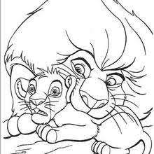mufasa coloring pages drawing kids videos kids