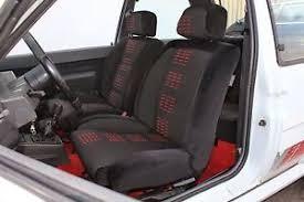 housse siege cing car housse de siege avant pour 5 gt turbo version velours noir ebay