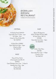 bismillah biryani singapore home singapore menu prices