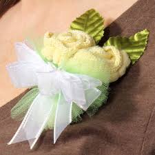 Baby Sock Corsage Neutral Baby Shower Sock Corsage