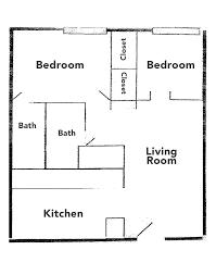 3 4 Bath Floor Plans by Floorplans Rates U2013 Foresight Village Apartments