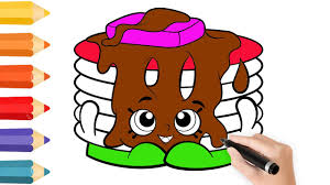 coloring pages cake for kids u0026 drawing for children how to color