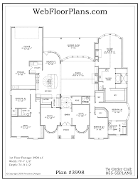 3 bedroom open floor house plan one level house plans open concept