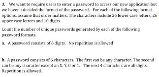 Count Characters In Access 3 We Want To Require Users To Enter A Password To Chegg Com