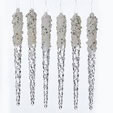 the shoppe clear platinum acrylic glitter icicle