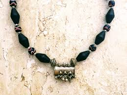 beads jewelry necklace images African necklace trade beads necklace red white black necklace JPG